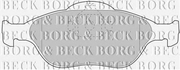 BORG & BECK BBP1615 Комплект тормозных колодок, дисковый тормоз