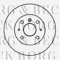 BORG & BECK BBD5016 Тормозной диск