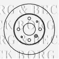 BORG & BECK BBD5042 Тормозной диск