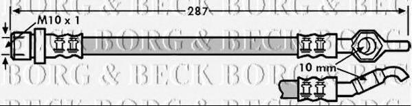 BORG & BECK BBH7249 Тормозной шланг