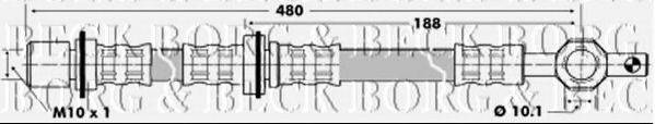 BORG & BECK BBH6443 Тормозной шланг