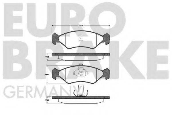 EUROBRAKE 5502222535 Комплект тормозных колодок, дисковый тормоз