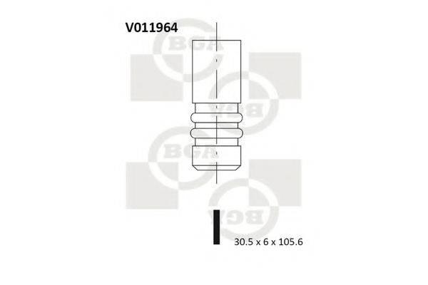 BGA V011964 Выпускной клапан