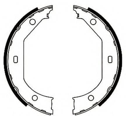 JURID 362402J Комплект тормозных колодок, стояночная тормозная система