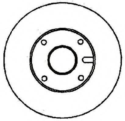 JURID 561370J Тормозной диск