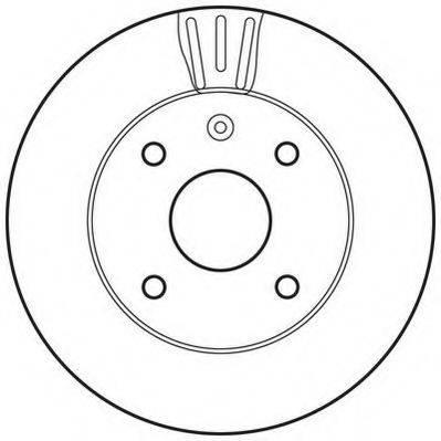 JURID 562662JC Тормозной диск