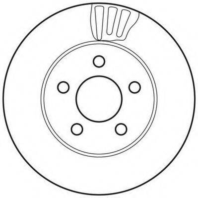 JURID 562709JC Тормозной диск