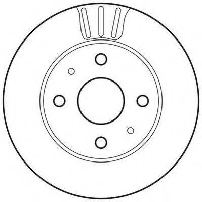 JURID 562814JC Тормозной диск