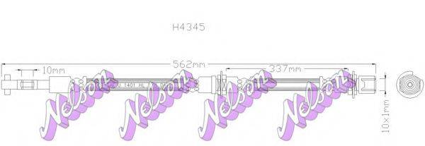 BROVEX-NELSON H4345 Тормозной шланг
