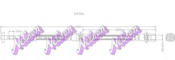 BROVEX-NELSON H4346 Тормозной шланг
