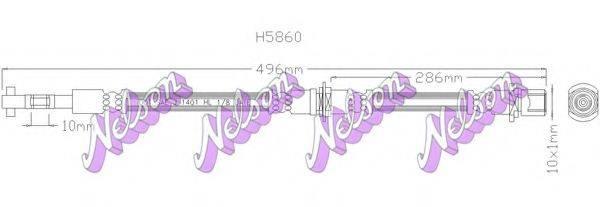 BROVEX-NELSON H5860 Тормозной шланг