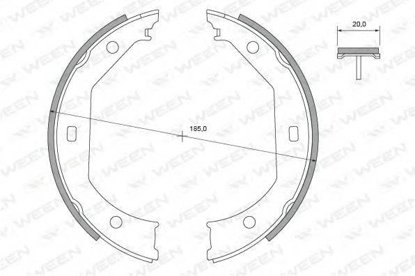 WEEN 1522428 Комплект тормозных колодок, стояночная тормозная система