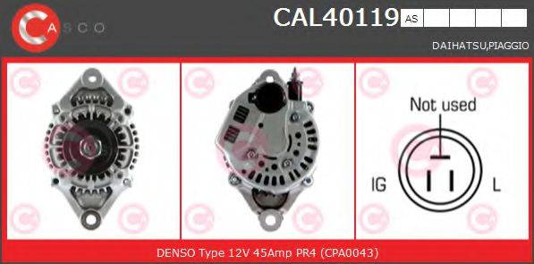 CASCO CAL40119AS Генератор