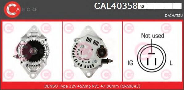 CASCO CAL40358AS Генератор