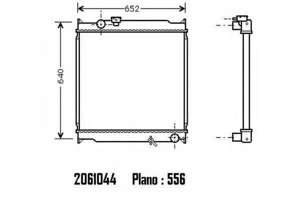 Радиатор, охлаждение двигателя ORDONEZ 2061044