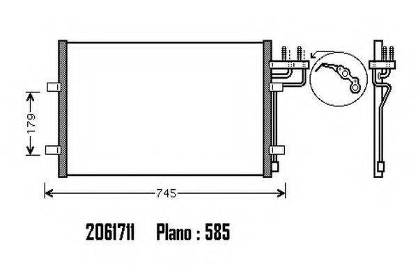 ORDONEZ 2061711 Конденсатор, кондиционер