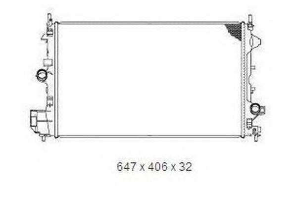 Радиатор, охлаждение двигателя ORDONEZ 2065095