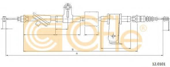 Трос, стояночная тормозная система COFLE 12.0101