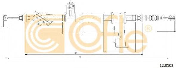 Трос, стояночная тормозная система COFLE 12.0103
