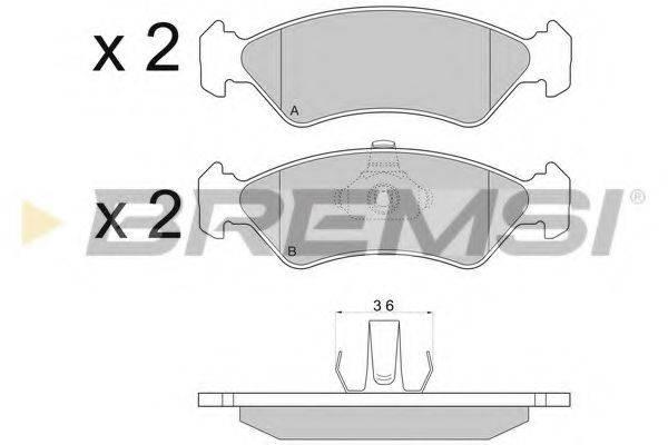 BREMSI BP2671 Комплект тормозных колодок, дисковый тормоз