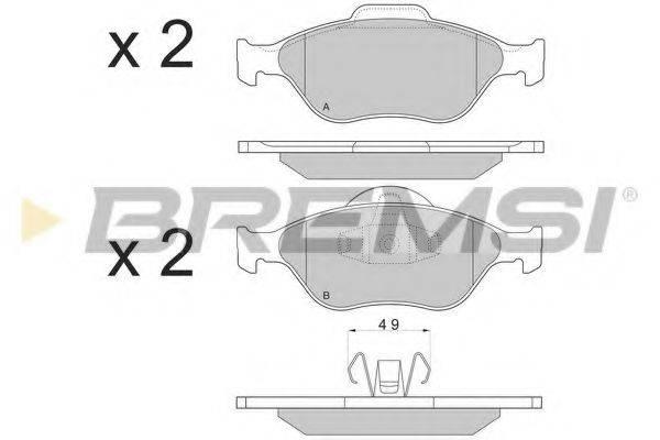 BREMSI BP2872 Комплект тормозных колодок, дисковый тормоз