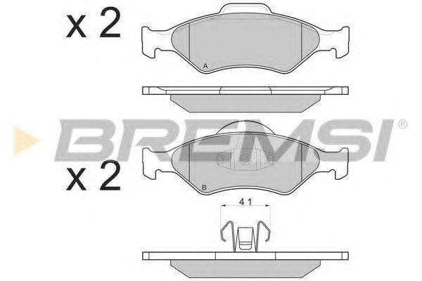 BREMSI BP2873 Комплект тормозных колодок, дисковый тормоз