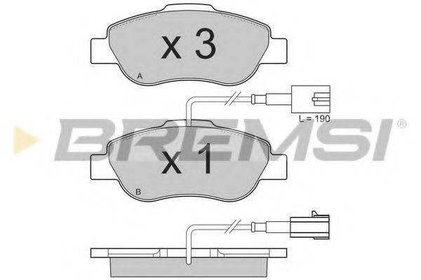 BREMSI BP3325 Комплект тормозных колодок, дисковый тормоз