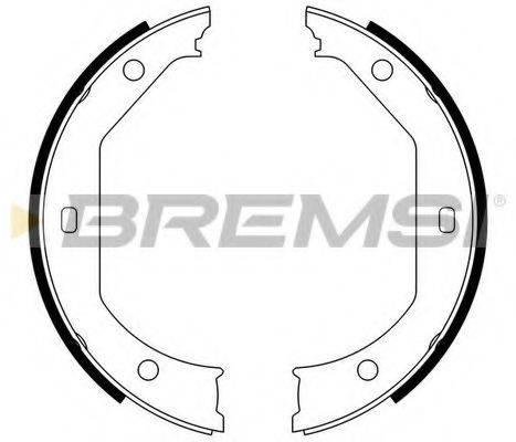 BREMSI GF0080 Комплект тормозных колодок, стояночная тормозная система