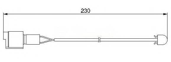 BREMSI WI0526 Сигнализатор, износ тормозных колодок