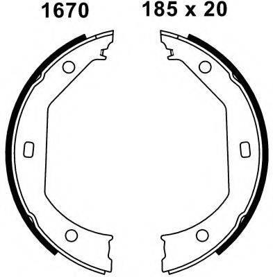 BSF 01670 Комплект тормозных колодок, стояночная тормозная система