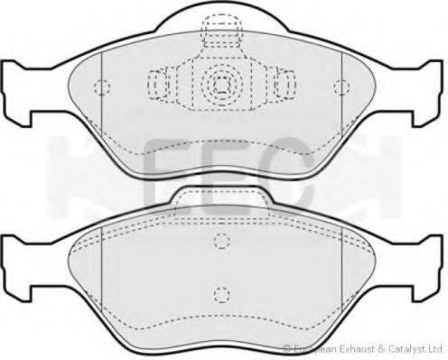 EEC BRP1117 Комплект тормозных колодок, дисковый тормоз