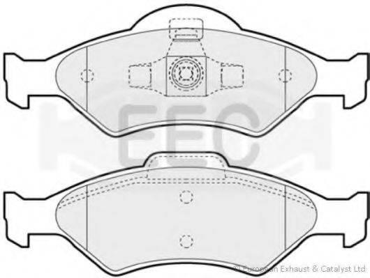 EEC BRP1125 Комплект тормозных колодок, дисковый тормоз