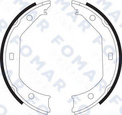 FOMAR FRICTION FO9065 Комплект тормозных колодок, стояночная тормозная система