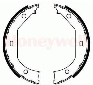 BENDIX 362402B Комплект тормозных колодок, стояночная тормозная система