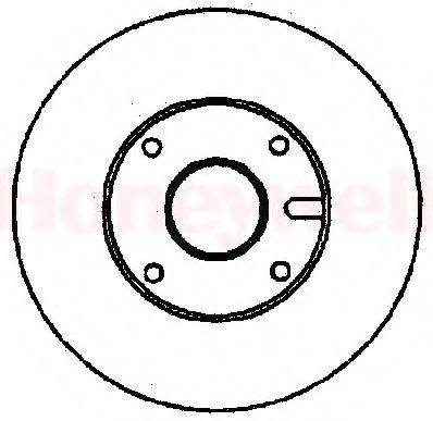 BENDIX 561370B Тормозной диск