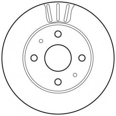 BENDIX 562814BC Тормозной диск