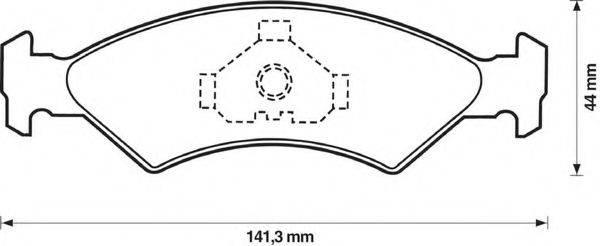 BENDIX 571412B Комплект тормозных колодок, дисковый тормоз