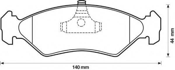 BENDIX 571913B Комплект тормозных колодок, дисковый тормоз