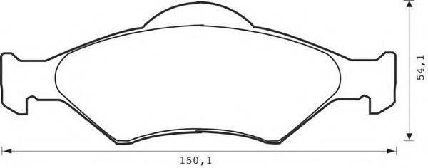 BENDIX 571996B Комплект тормозных колодок, дисковый тормоз