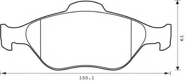 BENDIX 573041B Комплект тормозных колодок, дисковый тормоз