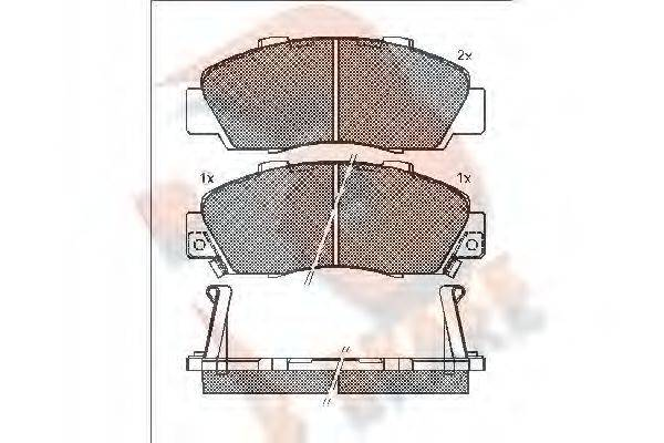 R BRAKE RB1019 Комплект тормозных колодок, дисковый тормоз