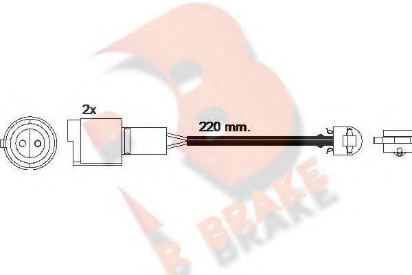 R BRAKE 610239RB Сигнализатор, износ тормозных колодок