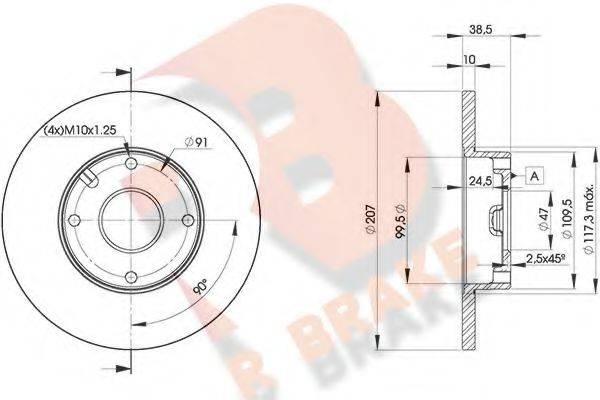 R BRAKE 78RBD27702 Тормозной диск