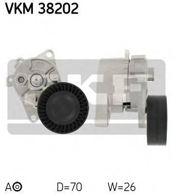 SKF VKM38202 Натяжной ролик, поликлиновой  ремень