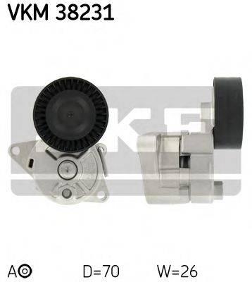 SKF VKM38231 Натяжной ролик, поликлиновой  ремень