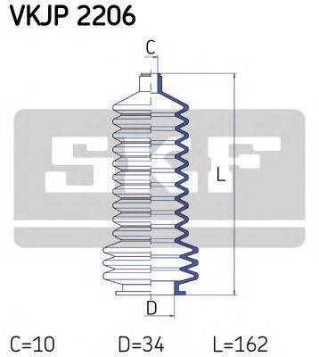 SKF VKJP2206 Комплект пылника, рулевое управление