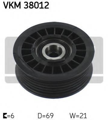 SKF VKM38012 Паразитный / ведущий ролик, поликлиновой ремень