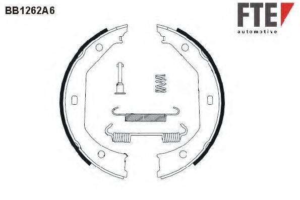 FTE BB1262A6 Комплект тормозных колодок, стояночная тормозная система