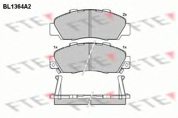 FTE BL1364A2 Комплект тормозных колодок, дисковый тормоз