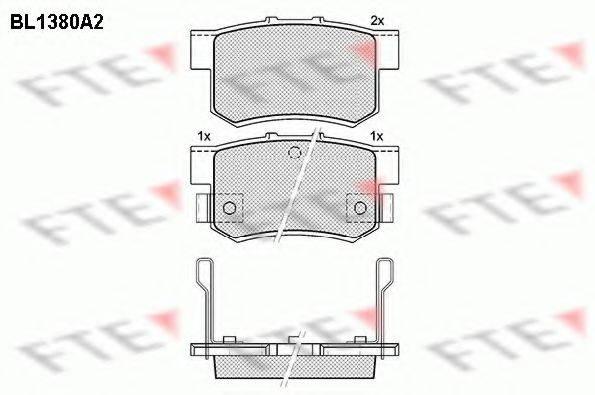 FTE BL1380A2 Комплект тормозных колодок, дисковый тормоз